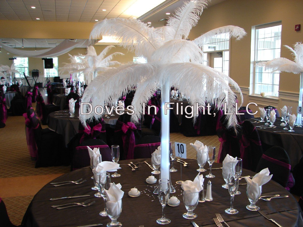 OSTRICH FEATHERS EIFFEL TOWER VASES | Vases Sale