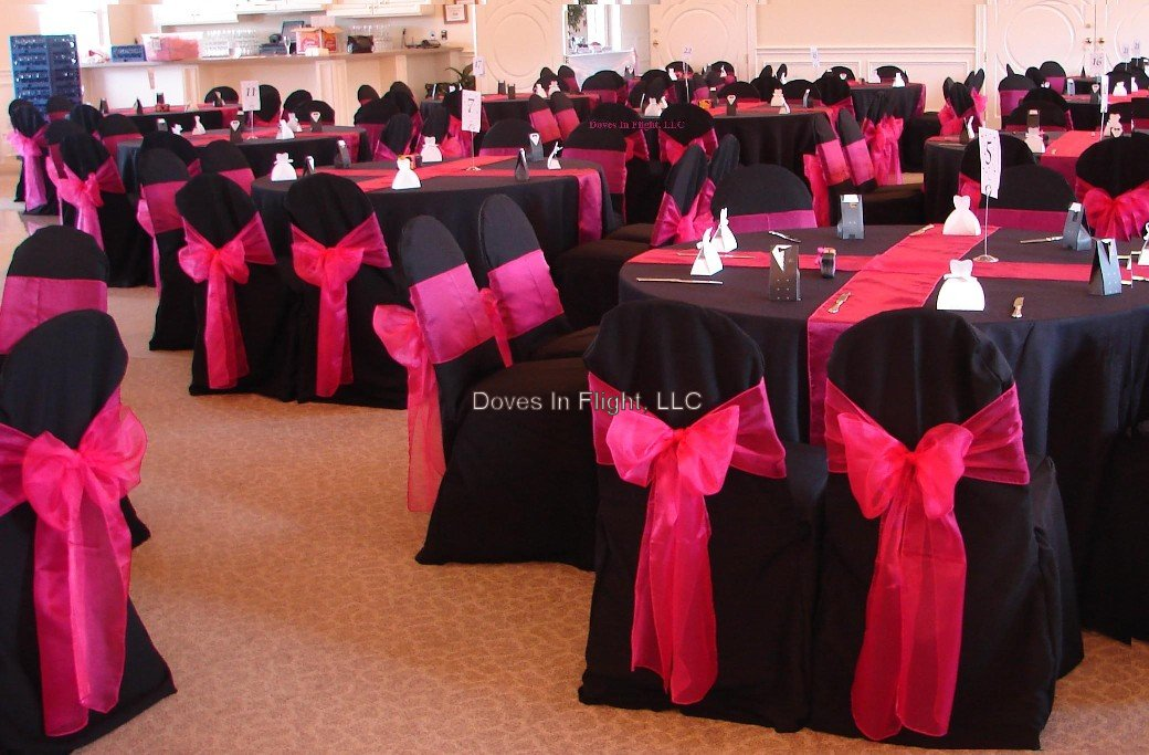 Ideas For Black Hot Pink And Bling Wedding Colors